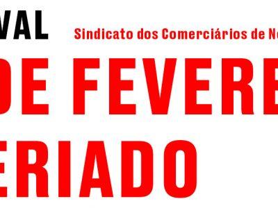 CARNAVAL / 16 DE FEVEREIRO É FERIADO