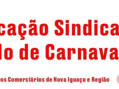Notificação Sindical – Feriado de Carnaval 2021